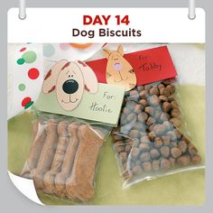 Dog Biscuits Recipe from Taste of Home. -- If members of your family are of the furry four-legged kind treat them to these homemade biscuits. a cinch to make and your canine pals will go crazy for the peanut butter flavor. Dog Biscuit Recipes, Dog Treat Recipes, Dog Food Recipes, Homemade Dog Treats, Homemade Gifts, Homemade Biscuits, Taste Of Home, Dog Treat Packaging, Puppy Treats