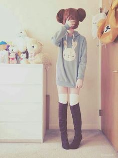 This hoodie omg cute asian fashion, korean fashion, kawaii girl, kawaii sty Estilo Harajuku, Harajuku Mode, Harajuku Fashion, Kawaii Fashion, Lolita Fashion, Fashion Fashion, Harajuku Style, Ethical Fashion, Fashion Trends