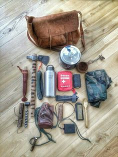 Bushcraft haversack kit