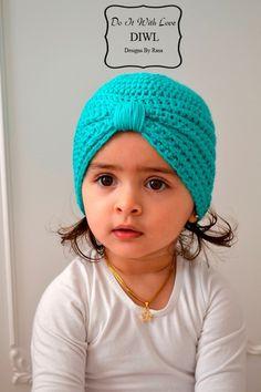 ❤+Baby+Kinder+Turban+Style+Mütze+Häkelanleitung+❤+von++DO+IT+WITH+LOVE+auf+DaWanda.com