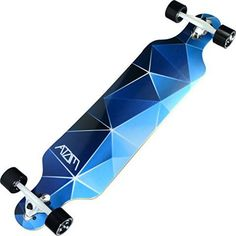 "Atom Longboards 40"" Blue Geo"