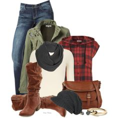 Fall layers, created by madamedeveria on Polyvore