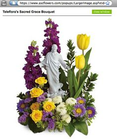 Easter Floral Arrangements | The Jesus-Easter-Flower Arrangement, what more could you ask for ...
