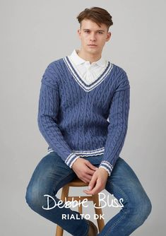 21c7fd702 Kentwell Sweater in Debbie Bliss Rialto DK - DB180 - Downloadable PDF  knitting pattern Wool Yarn