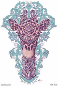 Giraffe (mandala)