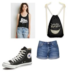 """""""5sos"""" by saanvim ❤ liked on Polyvore featuring Topshop and Converse"""