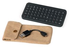 "HENLEY BRANDS | Rechargeable Bluetooth ThumBoard | 5""w x 2.5""d x 0.25""thick 