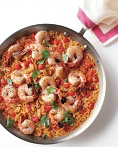 Skillet Shrimp and Orzo | Tips to add more depth: replace part of ...