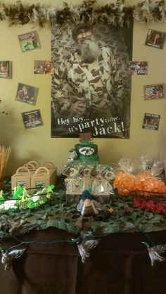 My son's Duck Dynasty party table on Catch My Party