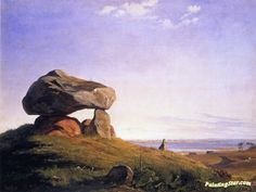 Dolmen at Taklev Artwork by Johan Thomas Lundbye Hand-painted and Art Prints on canvas for sale,you can custom the size and frame
