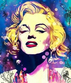 Marilyn Monroe Pop Art by Cenika | This image first pinned to Marilyn Monroe Art board, here: http://pinterest.com/fairbanksgrafix/marilyn-monroe-art/ || #Art #MarilynMonroe
