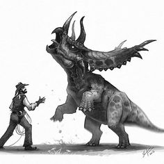 Dinosaurs of the Wild West by Shaun Keenan Dinosaur Drawing, Dinosaur Art, Jurassic World, Westerns, Science Fiction, Extinct Animals, Prehistoric Creatures, Dragon Art, Creature Design