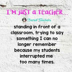 Just a teacher...