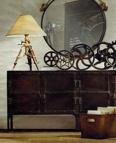 Steampunk Bedroom Decorating Ideas for your Home Steampunk home decor, Steampunk interior and Steam punk room, Casa Steampunk, Steampunk Bedroom, Design Steampunk, Steampunk Interior, Steampunk Home Decor, Steampunk Furniture, Steampunk Kitchen, Steampunk Gears, Home Design