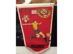 1966 World Cup Willie football pennant Russia issued in Spain 1960s Britain, 1966 World Cup, Football Memorabilia, Spain, Russia, Sevilla Spain, Spanish