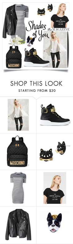 """""""Black Mirror"""" by muluna ❤ liked on Polyvore featuring Forever 21, Moschino, Betsey Johnson, T By Alexander Wang, MANGO and Nach Bijoux"""