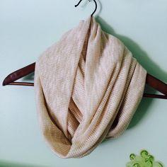 Peach/White or Cream/White lurex infinity scarf by SissyandTodo, $27.00