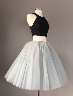 Gray Tulle Skirt  Adult Bachelorette Tutu by Morningstardesignsmi