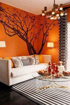 Don't like the orange but love the the tree