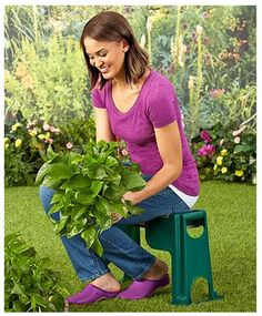 Garden Seat 2 In 1 Gardening Tool Stool Chair Knee Cushion Planting Weeding