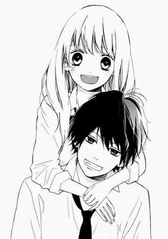 cute couple hugs anime - Google Search