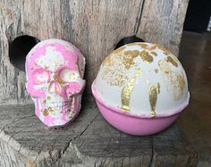 Pink Champagne Bath Bomb - Pink and Gold Bath Bomb - Shimmer Bath Bomb - Romantic Bath Bomb - Skull Bath Bomb - Skull Mold