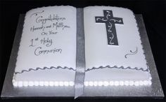 christina johnson cakes | Confirmation Cakes For Girls | Pin Confirmation Cake Bible On A Cake ...