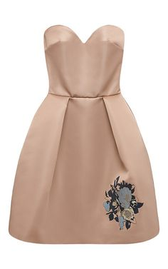 Strapless Duchess Satin Dress by MSGM for Preorder on Moda Operandi
