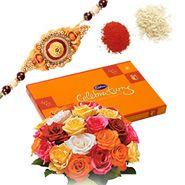 Send rakhi online with chocolate