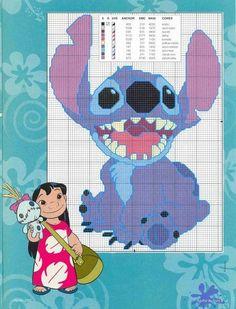 lilo and stitch cross stitch pattern - Google Search