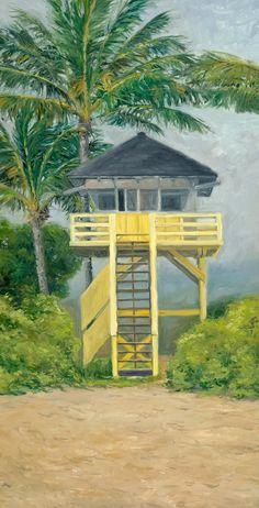 Kamaole Lifeguard tower Maui by StacyVosbergFineArt on Etsy