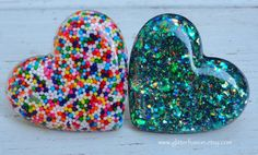 Big Rainbow Sprinkles Halloween Candy Resin Ring by GlitterFusion