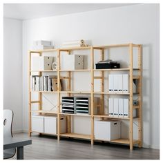 IKEA - IVAR, Shelf unit, Untreated solid pine is a durable natural material that can be painted, oiled or stained according to preference.You can move shelves and adapt spacing to suit your needs. Ikea Ivar Shelves, Ikea Shelving Unit, Pine Shelves, Storage Shelving, Glass Shelves, Ikea Ivar Regal, Foldable Table, Best Ikea, Home Living