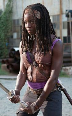 Michonne is the most bad ass betch and I'd like to come back as her in my next life.