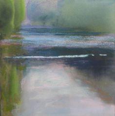 soft greens by Loriann Signori Pastel ~  x