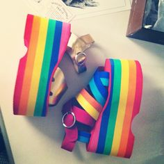 Rainbow Bright called. She wants her sandals back