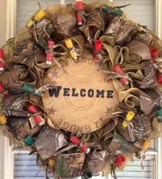Camo Wreath on Etsy, $70.00