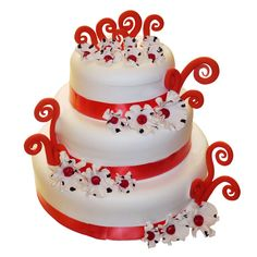 Your Wedding Day is special and deserves by this special cake. At Top Tier for this cake is extra special.Express your wishes by sending this three tier cake to any couple.