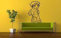 Wall Vinyl Sticker Decals Mural Room Design Pattern Anime Boy Movie Hero bo567