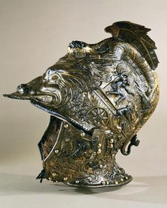 Armour and Armour Accessories - hierarchical-aestheticism: Burgonet helmets