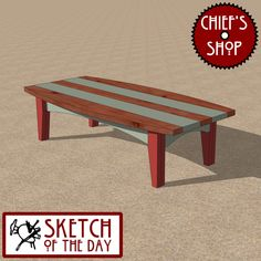 Sketch of the Day: Lakeside Bench