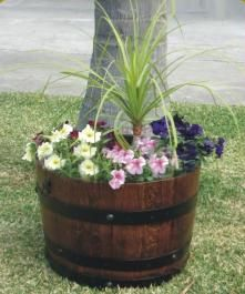 Garden design garden design with wine barrel ideas on pinterest garden design with wine barrel ideas on pinterest wine barrel planter wine barrels with planting sisterspd