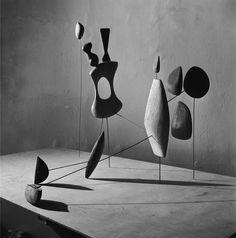 """jonasgrossmann: """"herbert matter… alexander calder, """"vertical constellation with yellow bone"""", 1943 @ fitzandco """""""