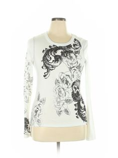 Karen by Karen Kane Women White Long Sleeve T-Shirt L   eBay White Chests, Karen Kane, Cotton Style, White Long Sleeve, Looking For Women, Tunic Tops, Boho, Sleeves, T Shirt