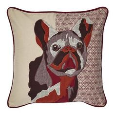 Dunelm Red Roxy French Bull Dog Cushion