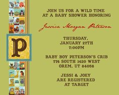 HiLLmark Design . animal baby shower invitation