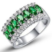 Anéis de moda para mulheres Anel Com Pedra Grande casamento, Banhado a prata Com pedras de cristal Artificial 2016 nova J507(China (Mainland))