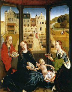 Maestro de la Leyenda de Santa Catalina/Meester van de Catharinalegende, La Virgen y el Niño con Santa Catalina y Santa Barbara (ca.1490) - Capilla Real, Granada, Spain