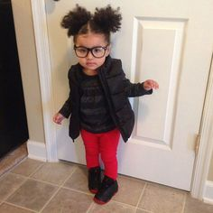 ☾@moonshineeeeee Cute Kids Fashion, Little Girl Fashion, Toddler Fashion, Kid Swag, Baby Swag, Beautiful Children, Beautiful Babies, Red Skinny Pants, Baby Girl Pants