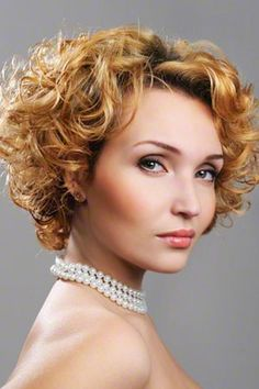 Blonde Curly Hairstyle for Short Hair